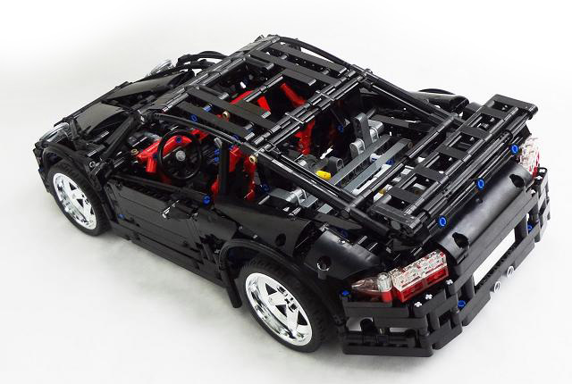 how to build simple suspension lego technic steering system